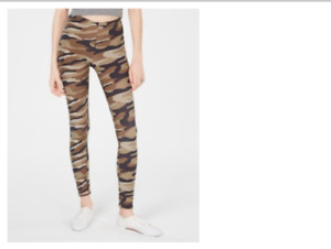 Planet Gold Legging Nondenim Camouflage With High Waist And Elastic Waistband