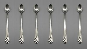 Oneida Stainless Torino Iced Beverage Spoons Set of Six New