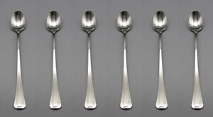 Oneida Stainless DISTINCTION FIRESIDE Iced Beverage Spoons Set of Six * USA