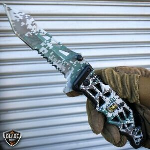 9quot; Military ARMY Tactical Spring Open Assisted Folding Rescue Pocket Knife Blade $12.95