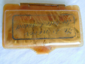 hinged CELLULOID case HAND SEWING KIT vintage quot;It is never too late to Mendquot; $35.00