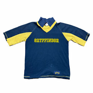 VTG Y2K 2000 Harry Potter Blue Yellow Quidditch Jersey Shirt Size Youth XL $24.95