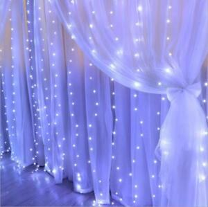 USB Powered LED Curtain Fairy Hanging String Light Wedding Party Wall Decor Lamp $11.99