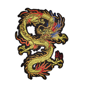 Applique Embroidery Dragon Patches for Clothing Coat Iron On Sewing On StickXNH2 C $2.47