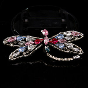 Sequined dragonfly Patch for Clothes Sewing on Rhinestone Beaded Applique YJH2 C $1.82