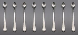 Oneida Stainless Bach Iced Beverage Spoons Set of Eight *