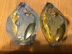 Lot of 2 Vintage Blue Fox Big Bass Spinnerbaits NOS