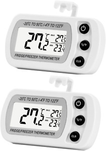 2 Pack Digital Refrigerator Freezer ThermometerMax Min Record Function with LCD