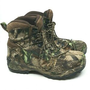Men#x27;s RedHead CAMO Waterproof Hiking Hunting Boots Size 10.5 M Lace Up A10