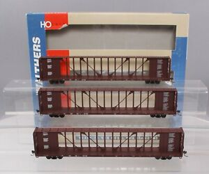 Walthers 932 34112 HO Scale Canadian National Center Beam Flat Car Set of 3 LN $117.03