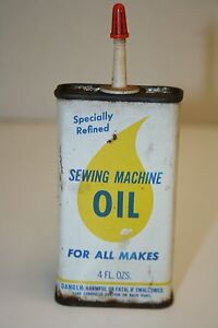 WOW Old Vintage Household Metal Sewing Oil Can Rare VHTF $11.99