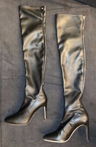 Giuseppe Zanotti $1000 Black Leather Over the Knee OTK Thigh High Boots 36 6 $150.00
