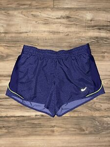 Womens Nike Running Shorts Dri Fit Size Small Lined And Drawstring Purple $16.96