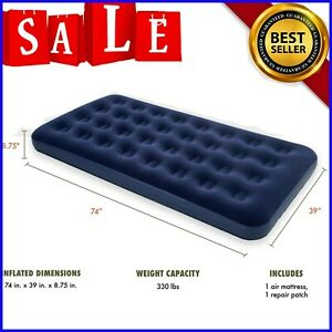 Camping Mattress Inflatable Airbed Air Sleeping Twin Size 8.75Downy Blow Up Bed