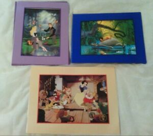 Set of 3 Vintage 90s Disney Lithographs Snow White Jungle Book Sleeping Beauty $17.95
