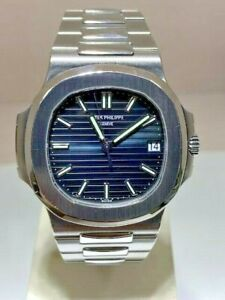 PATEK PHILIPPE NAUTILUS 5711 1A BLUE DIAL BOX AND PAPERS CERT 2017