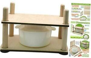 Сheese Making Kit 12 in Wooden Guides Cheese Press 1 Cheese Making mold 1.2