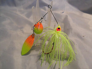 Best Bass Gear.. 1 2 ounce Spinnerbait Chartuese Tandem New in Package #3