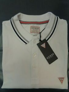 GUESS FRONT LOGO POLO SHIRTS MENS Size L Ref. CN1828 $62.42