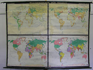 Schulwandkarte Beautiful Old World Map History 83 1 2x63 13 16in Vintage $207.12