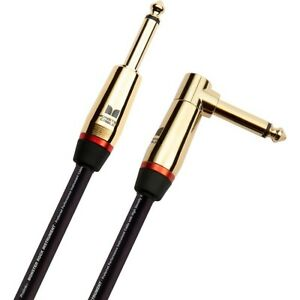 Monster Cable Prolink Rock Pro Audio Instrument Cable Angle Straight 12#x27; Black $59.99