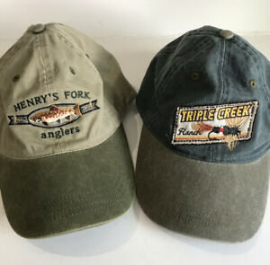 Ouray Hat Lot Of 2 Mens Fly Fishing Caps UNUSED Triple Creek amp; Henry's Fork