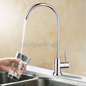 1 4 RO Reverse Osmosis Filter 360° Water Faucet Kitchen Chrome Goose Neck US $15.24