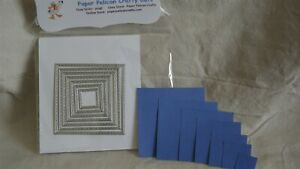 STITCHED SQUARE CUTTING DIES 7 PIECES New Never Used $5.99