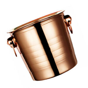 1Pc Portable Bar Dedicated Ice Holder Non skid Durable Ice Container Rose Gold