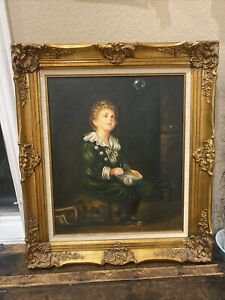 ANTIQUE 19TH CENTURY FRAME VERY ORNATE FOR PAINTING PRINT PHOTO WIDE GORGEOUS $599.99