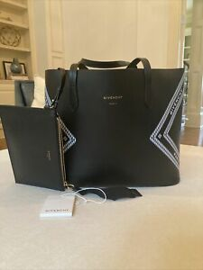 Large Givenchy Logo Wing Tote EUC Black And White $1350 $699.00