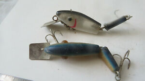 FISHING LURE JAPAN 3quot; JOINTED MINNOW BLACK amp; SILVER AND BLUE amp; GOLD
