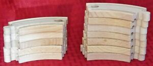 Lot of 11 Brio Wooden Train Tracks 4quot; Small Curved W Connectors Thomas FREE Ship $26.24