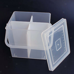 Durable Sewing Thread Storage Box Craft Case Holder Transparent Embroidery $8.82