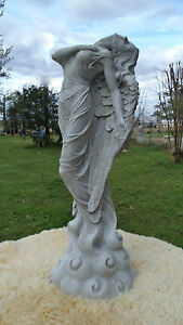 23quot; ASCENDING ANGEL GRAY CEMENT STATUE AND ANTIQUED WHITE $84.99