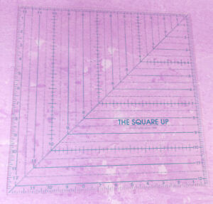 The Square Up Ruler Quilt in a Day 12.5 Inch Sq Patricia Knoechel 1986 Vintage $16.96