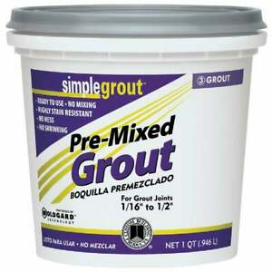 Custom Building Products Simplegrout Quart Haystack Pre Mixed Tile Grout