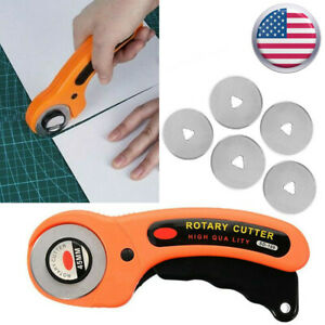 45mm Rotary Cutter 5X Scale Blades Sewing Quilters Fabric Leather Cutting Tool $9.65