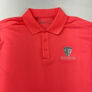 Under Armour Sandals Golf Polo Shirt Mens Large Short Sleeve Pink Loose Fit $18.95