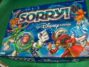 SORRY The Disney Edition Board Game 2001 COMPLETE $11.88