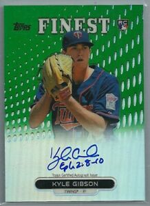 2014 KYLE GIBSON Topps Finest Auto Green Refractor RC #RA KG # 125 Phillies $20.99