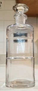 Antique Apothecary Jar w glass stopper $18.00