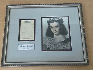 Vivien Leigh Signed Restaurant Check Framed With Photo COA 17x21 Autograph $995.00