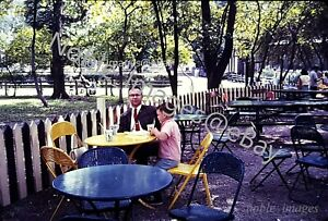 1965 Brookfield Zoo Chicago Dad and Son Snack Area Ektachrome Color Slide