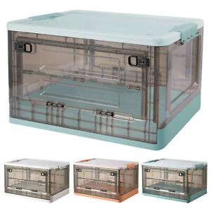 52L Collapsible Storage Box Crates Plastic Box Stackable for Clothes Toy Books $27.95