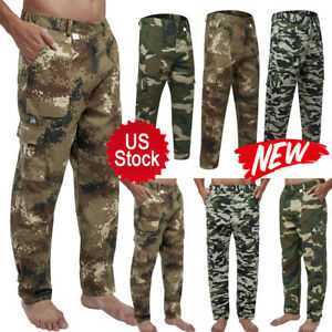 New Men Military Cargo Pant Camo Army Combat Hiking Casual Long Trouser S 4XL US