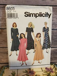 Simplicity Vintage Sewing Pattern #8603 Size P 12 14 16 Dress $6.99