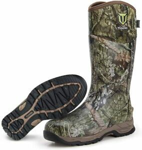 TIDEWE Rubber Hunting Boots Waterproof Insulated Realtree amp; Mossy Oak Camo Warm