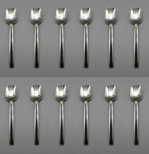 Oneida LTD Stainless MIDNIGHT Oval Soup Place Spoons Set of Twelve USA
