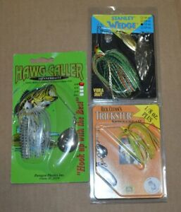 Lot of 3 Vintage Spinnerbaits Lures Hawg Caller Stanley Wedge Rick Clunn#x27;s
